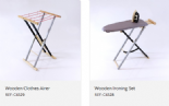 Wooden Ironing & Clothes Airer Set
